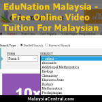 EduNation Malaysia - Free Online Video Tuition For Malaysian School Students