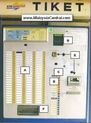 KTM Komuter ticket vending machine