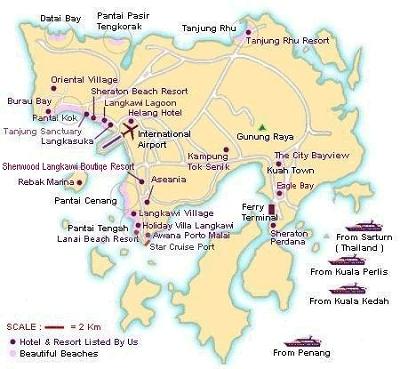 Langkawi Island map