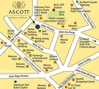 Ascott map