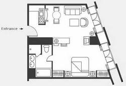 1 room layout