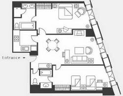 2 room layout