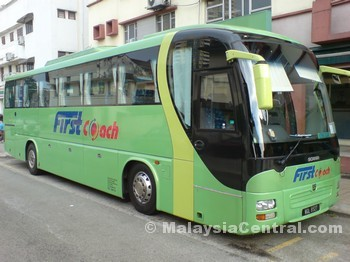 FirstCoach bus at Bangsar to Novena Square