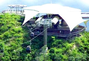 Langkawi cable car station on hill
