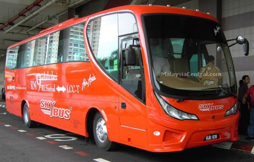 SkyBus at KL Sentral waiting for passengers