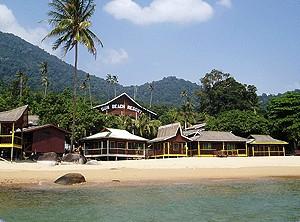 Sun Beach Resort view from sea in Tioman island