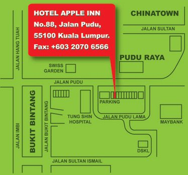 Apple Inn Hotel map