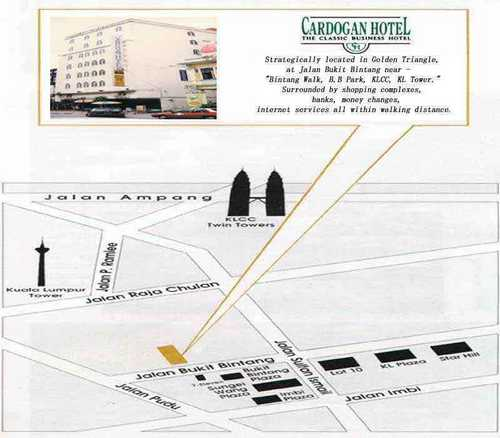 Cardogan Hotel location
