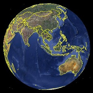 Google Earth globe