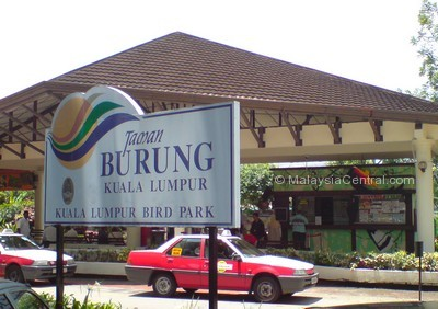 Kuala Lumpur bird park ticket counter and entrance