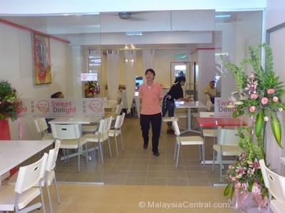 Inside Sweet Delight Cafe