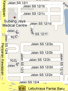 How to go to SS12 Subang Jaya Selangor Live Area Map Roads and