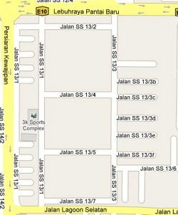How to go to SS13 Subang Jaya Selangor Live Area Map Roads and