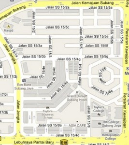 How to go to SS15, Subang Jaya, Selangor? Live Area Map, Roads and Directions