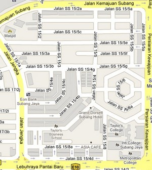 How to go to SS15 Subang Jaya Selangor Live Area Map Roads and