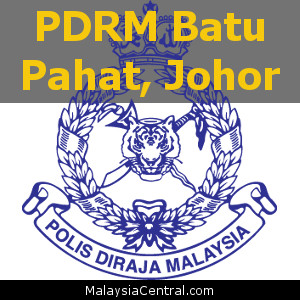 Balai Polis Batu Pahat, Johor (Senarai PDRM – Ibu Pejabat Polis Daerah (IPD), Balai Polis, Pondok Polis)