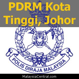 Balai Polis Kota Tinggi, Johor (Senarai PDRM - Ibu Pejabat Polis Daerah (IPD), Balai Polis, Pondok Polis)