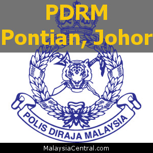 Balai Polis Pontian, Johor (Senarai PDRM - Ibu Pejabat Polis Daerah (IPD), Balai Polis, Pondok Polis)