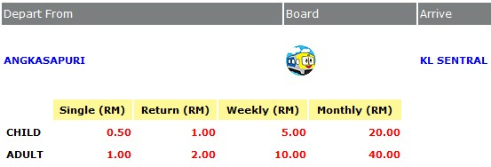 check ktm komuter ticket price online (single, return, weekly