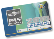 KTM Komuter – Ticket Type – Monthly Pass (Pas Bulanan)
