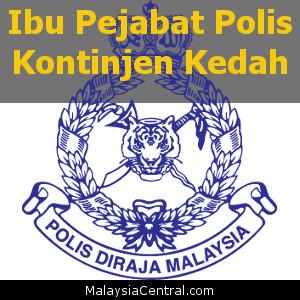 Ibu Pejabat Polis Kontinjen Kedah, PDRM (Contact, Map, Directions)