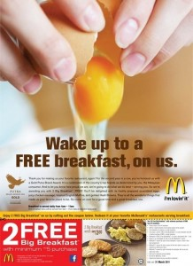 2 FREE Big Breakfast in McDonald's Malaysia 2011
