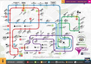 Go KL Red Blue Green Purple Line Route