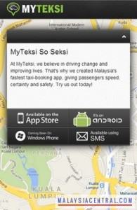 MyTeksi – Simple Taxi Booking System Using Smartphones, Tablets, Computer or Phone (Call/SMS)