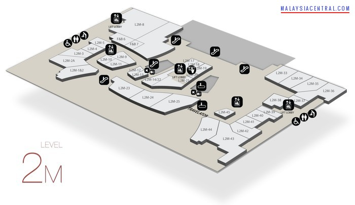 Gateway@KLIA2 floor map and tenant list - Level 2M