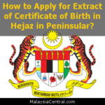 How to Apply for Extract of Certificate of Birth in Hejaz in Peninsular