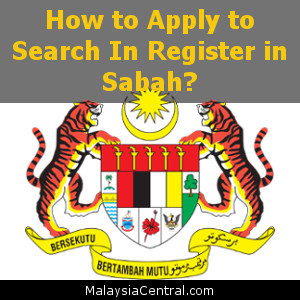How to Apply to Search In Register in Sabah