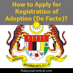 How to Apply for Registration of Adoption (De Facto)
