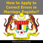 How to Apply to Correct Errors in Marriage Register?