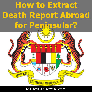 How to Extract Death Report Abroad for Peninsular?