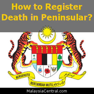 How to Register Death in Peninsular?