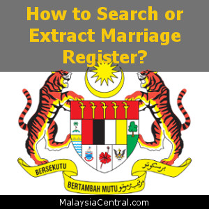 How to Search or Extract Marriage Register?